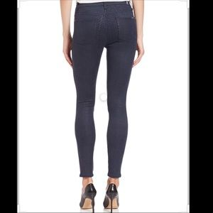 7 FOR ALL MANKIND Navy Snake Print Skinny Jeans
